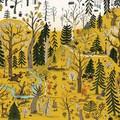 """""""Dans la forêt"""" - Illustration tirée de l'album """"Une chanson d'ours"""" écrit et illustré par Benjamin Chaud, publié aux Éditions Hélium."""
