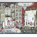 """""""A l'opéra"""" - Illustration de Benjamin Chaud tirée de la collection Grandimage! publiée à la maison d'édition La maison est en carton"""