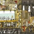 """""""Dans les coulisses de l'opéra"""" - Illustration tirée de l'album """"Une chanson d'ours"""" écrit et illustré par Benjamin Chaud, publié aux Éditions Hélium."""