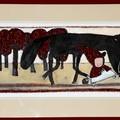 """""""Un petit chaperon rouge en compagnie d'un loup qui parait fort sympathique…"""""""