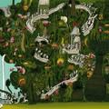"""""""Dans les arbres exotiques"""" - Illustration tirée de l'album """"Coquillages et Petit ours"""" écrit et illustré par Benjamin Chaud, publié aux Éditions Hélium."""