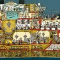 """""""Sur le bateau"""" - Illustration tirée de l'album """"Coquillages et Petit ours"""" écrit et illustré par Benjamin Chaud, publié aux Éditions Hélium."""