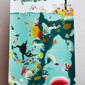 """Bannière d'entrée d'exposition - Dimension: 2m (h)x 1m (l) - Extrait de l'illustration """"Sous l'eau"""" de """"Coquillages et petit ours"""""""