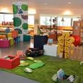 """Espace lecture mis en place pour l'accueil des enfants avec le fameux """"nid à coussins"""" - Médiathèque de Canteleu (76)"""