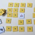 Les cartes du jeu de memory - dessins extraits des originaux des trois albums des aventures de Petit ours.