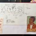 Crayonnés tirés de carnet de croquis de Judith Gueyfier
