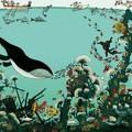 """""""Sous l'eau"""" - Illustration tirée de l'album """"Coquillages et Petit ours"""" écrit et illustré par Benjamin Chaud, publié aux Éditions Hélium."""