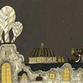 """""""Papa ours et petit ours sur le toit de l'opéra"""" - Illustration tirée de l'album """"Une chanson d'ours"""" écrit et illustré par Benjamin Chaud, publié aux Éditions Hélium."""