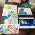 Six planches d'illustrations prêtes à être encadrées !