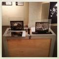 """Illustrations tirées de l'album """"Pleine lune"""" présentées dressées et en transparence sous plexiglass dans le cadre du salon du livre jeunesse de Beaugency (45)"""