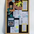 Travaux préparatoires de l'illustratrice Vanessa Hié : esquisses, élaboration des papiers de fond, inspiration…