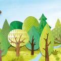 """""""La forêt"""" illustration originale de Coralie Saudo tirée de l'album """"Le nid"""" publié aux Éditions Les Minots."""