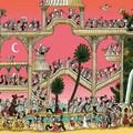 """""""La farandole"""" - Illustration tirée de l'album """"Coquillages et Petit ours"""" écrit et illustré par Benjamin Chaud, publié aux Éditions Hélium."""